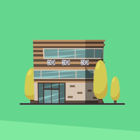 irodaházak, boltok klimatizálása